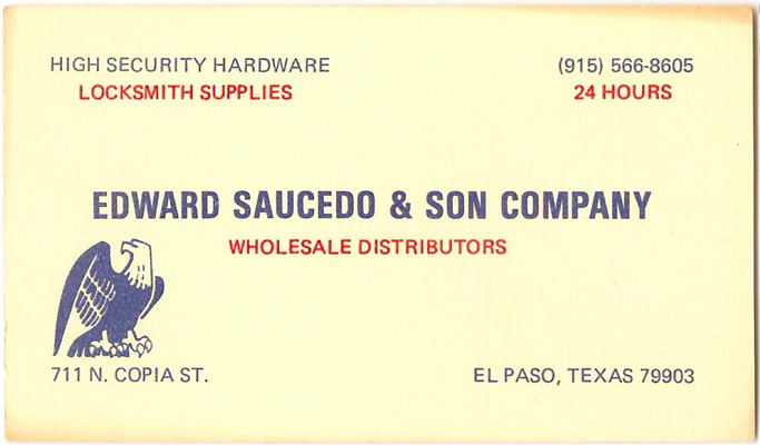 Our history the saucedo company el paso locksmith el 1978 edward saucedo officially makes his son a shareholder and becomes the edward saucedo reheart Image collections